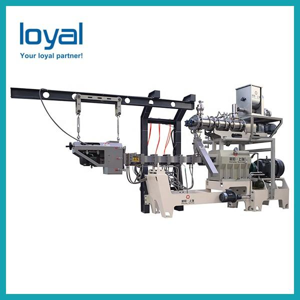 Extruded food fried wheat Corn Chips Bugle Snacks pellet making machine #3 image